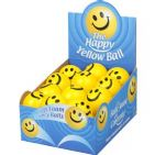 Happy Yellow BALL - Lightweight Foam Bouncy / Stress Ball